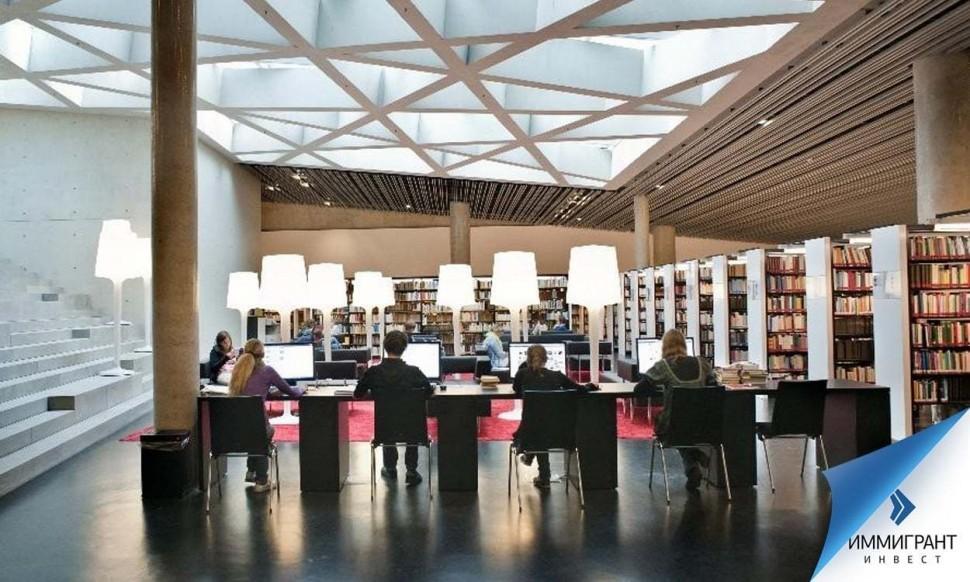 На фото – библиотека на факультете культуры и социальных наук