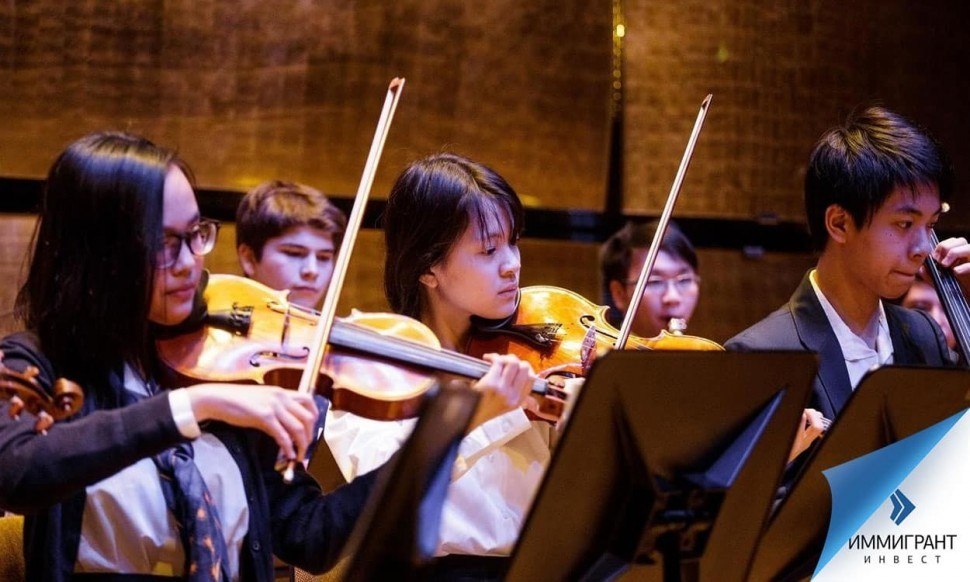 Ученики частной школы Amadeus International School Vienna в Австрии параллельно со средним получают художественное или музыкальное образование