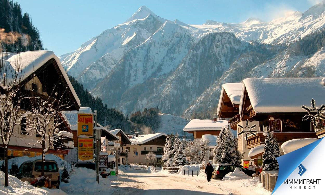 В курортных зонах в Австрии жилье самое дорогое