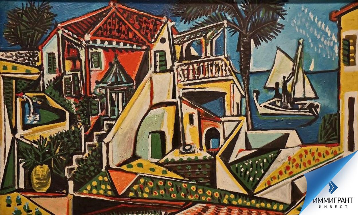 «Средиземноморский пейзаж», Пабло Пикассо, галерея Альбертина