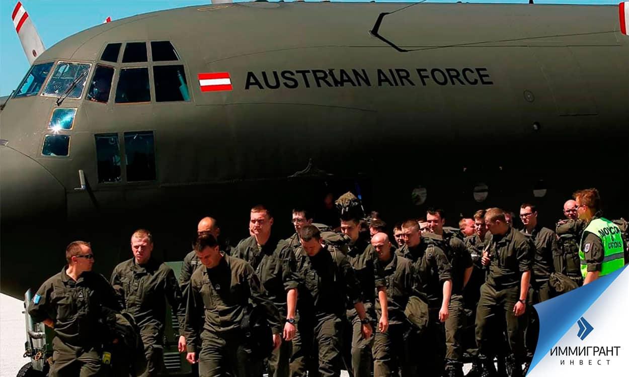 Солдаты австрийских ВВС