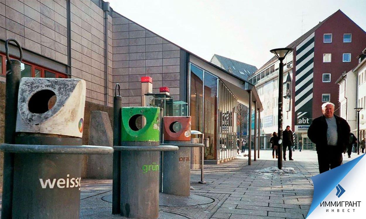 Подземные мусоросборники в австрийском городе