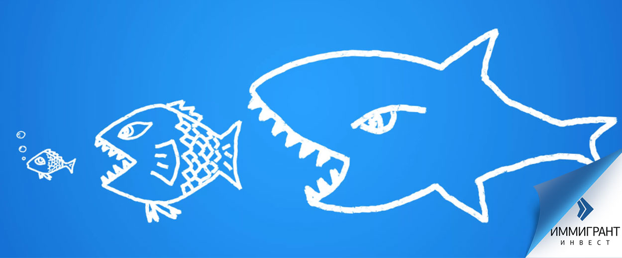 Рисунок рыб, поедающих других рыб