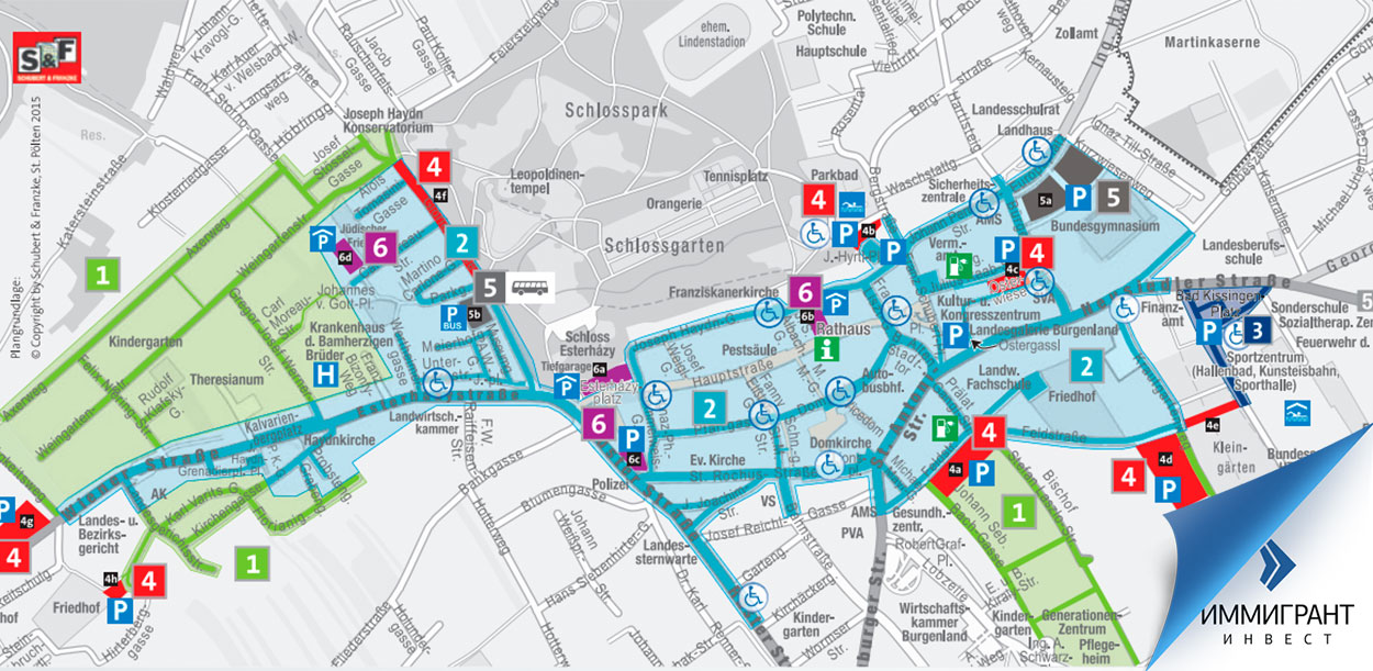План парковок в Айзенштадте