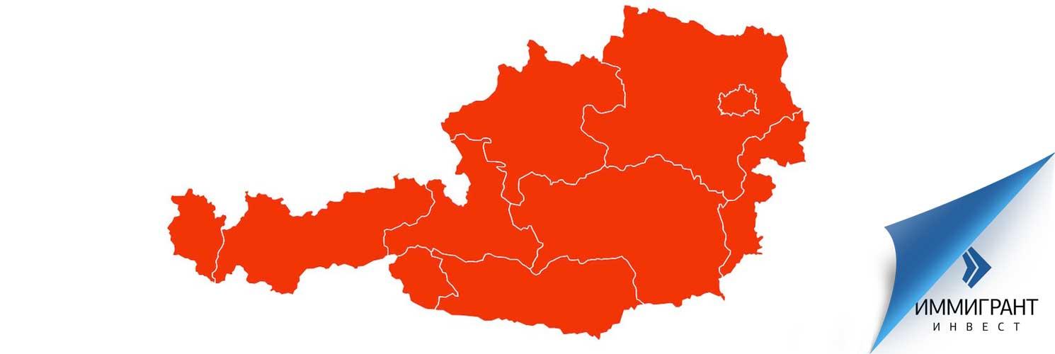 Географическое расположение Австрии